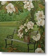 Magnolia Tree Metal Print