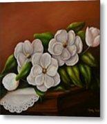 Magnolias On A Table Metal Print