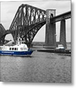 Maid Of The Forth In Blue. Metal Print