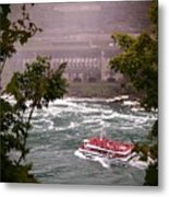 Maid Of The Mist Canadian Boat Metal Print