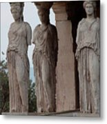 Maidens Of The Porch Metal Print