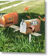 Mail Boxes  Metal Print