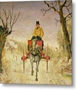 Mail Cart Christmas Metal Print
