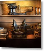 Mailman - At The Post Office Metal Print by Mike Savad