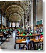 Main Reading Room Of Boston Public Library Metal Print
