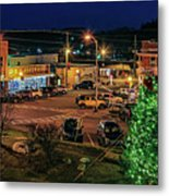Main Street Christmas Metal Print