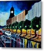 Main Street Clock Tower Metal Print