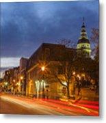 Main Street In Annapolis Metal Print