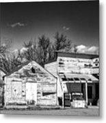 Main Street In Fort Shaw, Montana Metal Print