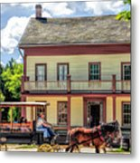 Main Street Of A Bygone Era At Old World Wisconsin Metal Print