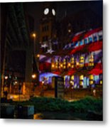 Main Street Station At Night Metal Print