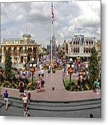 Main Street Usa Panorama Metal Print