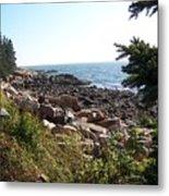 Maine Atlantic Ocean Coast Metal Print