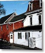 Maine Blue Hill Alleyway Metal Print
