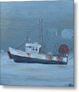 Maine Boat 2 Metal Print