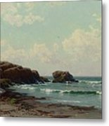 Maine Coast, C.1885 Oil On Canvas By Alfred Thompson Bricher Metal Print