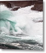 Maine Coast Storm Waves 2 Of 3 Metal Print