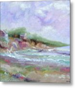 Maine Coastline Metal Print