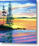 Maine Evening Song Metal Print