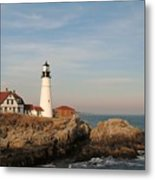 Maine Lighthouse Metal Print by Alberta Brown Buller