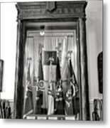 Maine State Capitol Hall Of Flags Modern Conflicts Display Case Metal Print