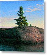 Maine Stone Island Sunrise Metal Print