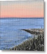Maine Sunset Metal Print