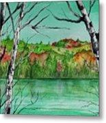 Maine's Autumn Finery Metal Print