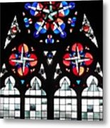 Mainz Cathedral Window Metal Print