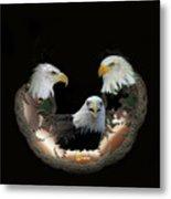 Majestic Eagles Metal Print
