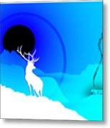 Majestic Elk Warmridge Metal Print