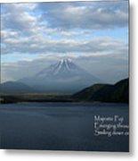 Majestic Fuji - Haiku Metal Print