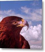 Majestic Golden Eagle Metal Print