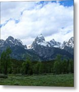Majestic Grand Tetons Metal Print