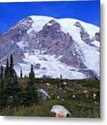 Majestic Mount Rainier Metal Print