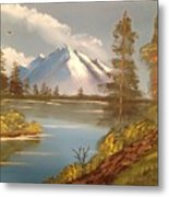Majestic Mountain Lake Metal Print