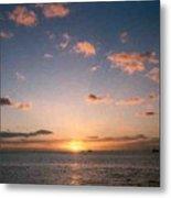 Majestic Ocean Sunset Metal Print
