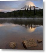 Majestic  Rainier Dawn Metal Print