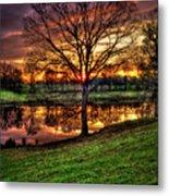 Majestic Sunrise Reflections Art Metal Print