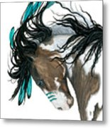 Majestic Turquoise Horse Metal Print
