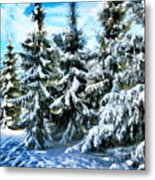 Majestic Winter In New England  Metal Print