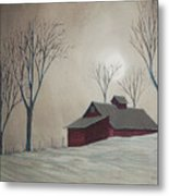 Majestic Winter Night Metal Print