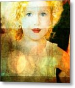 Golden Curls Metal Print