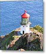Makapuu Lighthouse 1065 Metal Print by Michael Peychich