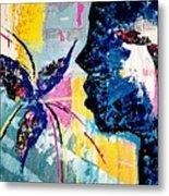 Make A Wish Abstract Art Figure Painting  Metal Print