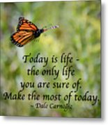 Make The Most Of Today Metal Print