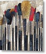 Make Up Brush Metal Print