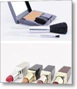 Make Up Set And Lipsticks Metal Print