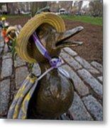 Make Way For Ducklings B.a.a. 5k Spring Bonnet Blanket Metal Print