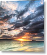 Makena Beach Maui Hawaii Sunset Metal Print